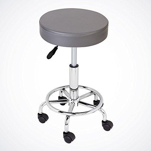 GotHobby Gray Adjustable Tattoo Salon Stool Hydraulic Rolling Chair Facial Massage Spa by GotHobby