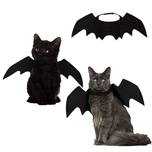 Cat Supplies Gentle Newest Pet Halloween Costume Cat Dog Black Bat Wings Cool Puppy Cat Black Bats Dress Up Costume Pet Creative Holiday Decoration Pet Products