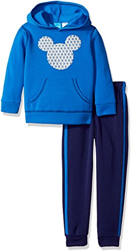 Disney Toddler Boys' Mickey Mouse 2-Piece Hoodie and Pant Set, Blue, (Mickey Mouse Clothes For Toddler Boy)