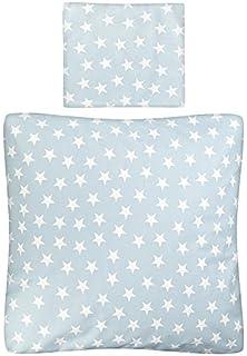 Wiegen-Bettw/äsche-Set Bett-Decke 80-x-80-cm Kissen-Bezug 35-x-40 cm wei/ß rosa Krone Rei/ßverschluss Prinzessin f/ür Stubenwagen Aminata Kids Baumwolle Beistellbett Kinderwagen