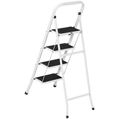 Step Stool Ladder 4 Step Folding Portable Heavy Duty Steel
