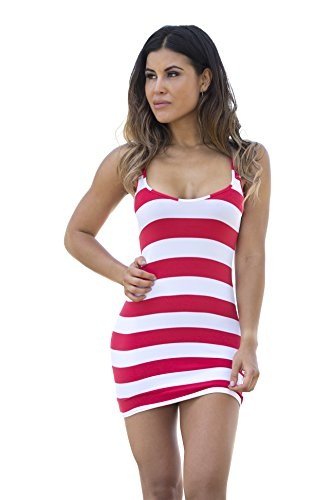 Wicked Weasel Sailor Stripe Dress 565  Small  Red
