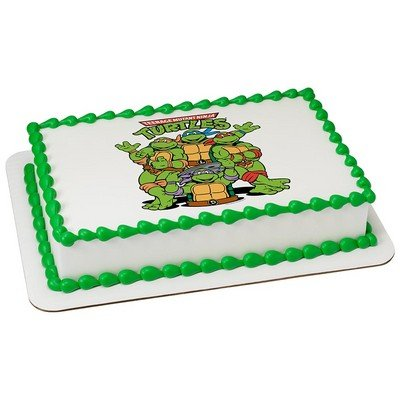 Teenage Mutant Ninja Turtles Licensed Edible Cake Topper #8412]()