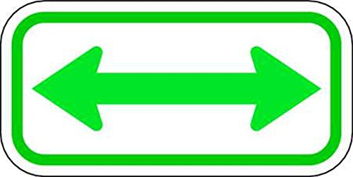 ZING 2361 Eco Parking Sign, Double Arrow, 3M High Intensity Prismatic, Recycled (Double Arrow Sign)