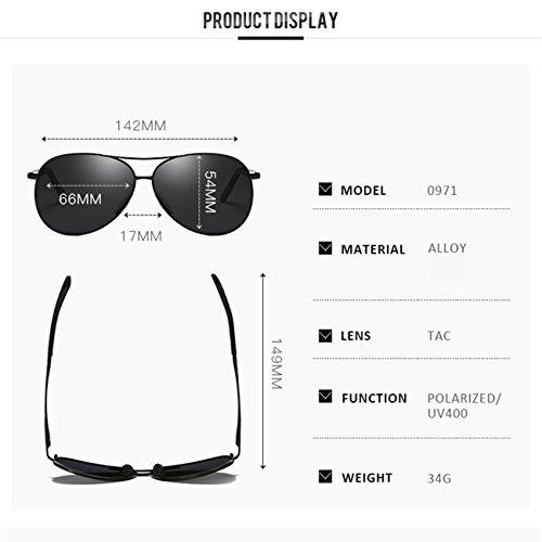 ad9a6be18 JULI Aviador Polarizado Gafas de sol Hombre Mujer - UV 400 Protection 0971  85% OFF
