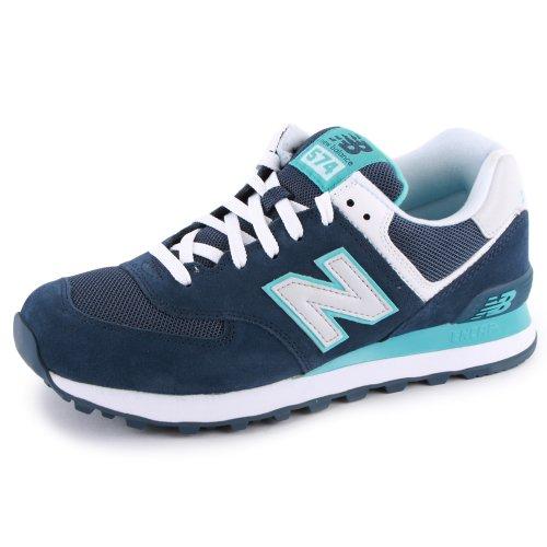 New Balance 574 WL574VIP Zapatillas Deportivas de Ante y Malla para Mujer Azul Marino y Blanco - 37?