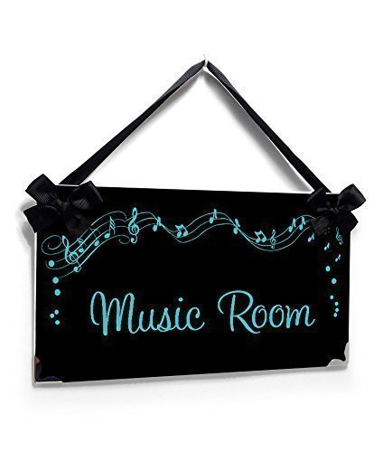 personalized music room teacher name class door sign black and