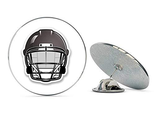 - American Football NFL Helmet Round Metal 0.75