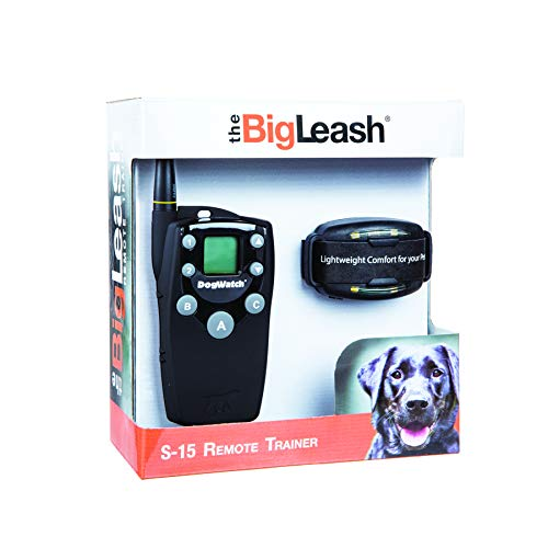 DogWatch BigLeash S-15 Remote Dog Training Collar - Safe and Effective E-Collar with Two-Way Communication up to ½ Mile, 15 Adjustable Stimulation Levels Plus Tone and Vibration, Waterproof, Recharge (Best Way To Leash Train A Dog)