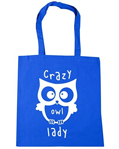Shopping 42cm x38cm litres Cornflower Lady Tote Gym Owl 10 Blue Bag Beach HippoWarehouse Crazy wZCxq6qF