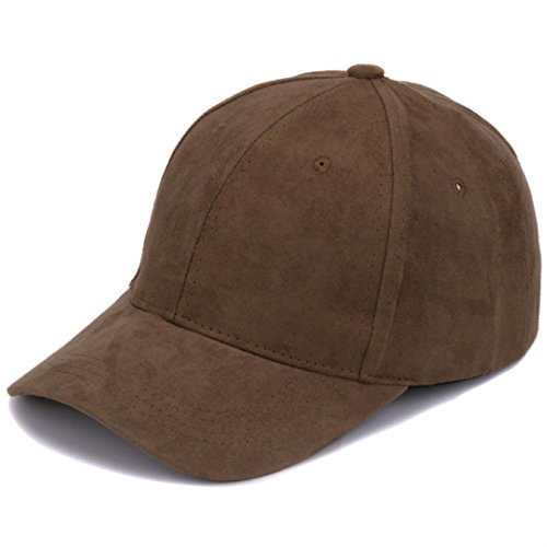 ain Suede Baseball Caps with No Embroidered Casual Dad Hat Strap Back Outdoor Blank Sport Cap (Suede Leather Baseball)