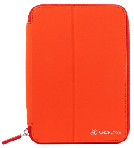 Cover Ace (PUNCHCASE by Leslie Hsu Ace Zip Around Standing Cover for iPad mini - Orange/Red (IPM001OR))
