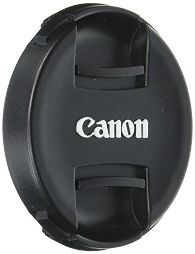 55mm Snap-On Lens Cap replaces E-55 II for Canon EOS Lenses, with Lens Keeper - Black - E-55II