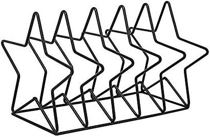 Magazin Fichiers Moderner Minimalist Kreative Geometrischer Eisen-Metallbuchständer Datei-Halter-Schreibtisch-Datei-Speicher-Organisator Dokumentenanzeige Für die Arbeit ( Color : Black , Size : A )