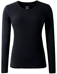 Women's Comfort Stretch Long Sleeve Crew Neck T-Shirt Winter Base Layer