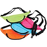 U.S. Toy Assorted Neon Color Adjustable Fanny Packs (12): more info