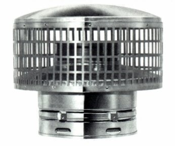"Buy Metal-Fab 6"" Stainless Rain Cap with Spark Arrester: Chimney Caps - Amazon.com ? FREE DELIVERY possible on eligible purchases"