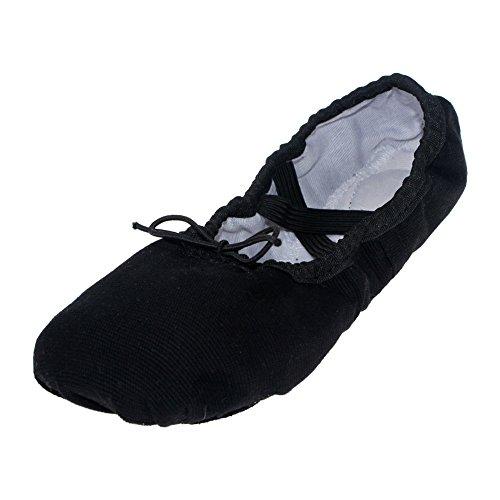 Canvas Kid Ballet Dancing Yoga Performance Flats,Black,Little Kid,11M US (Tinker Bell Shoes)