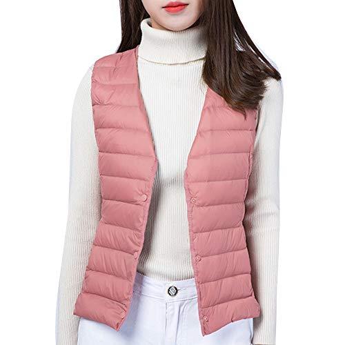 Del Packable Giacca Gilet Maglia Pink1 Cappotto Delle Laozana Della Donne Maniche Soffiatore Scaldini Corpo Senza HgnxwZTZ
