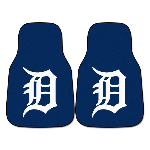 FANMATS MLB Detroit Tigers Nylon Face Carpet Car - Mat Floor Tiger