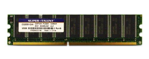 - Super Talent DDR400 1GB/64X8 ECC Unbuffered Server Memory D32EB1GW