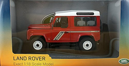 Universal Hobbies 1/18 Scale UH3880 - Land Rover Defender 90 Wagon Red/White
