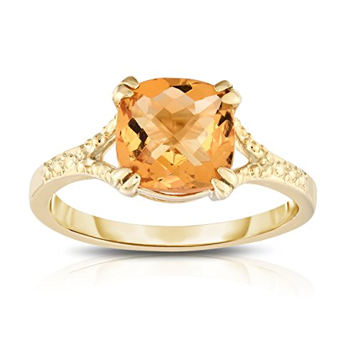Checkerboard Cut Citrine Ring (Noray Designs 14K Yellow Gold Checkerboard Cut Citrine (8 MM) Ring)