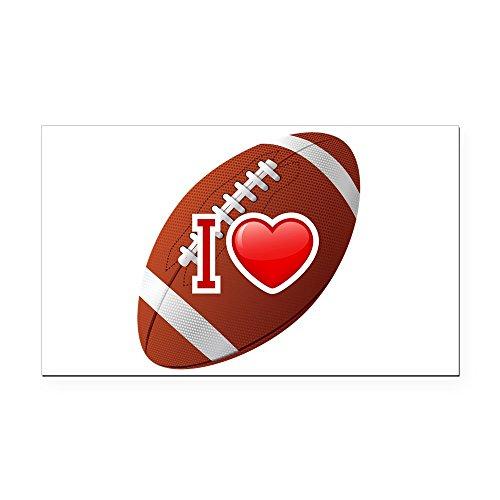 Rectangle Car Magnet I Love Football