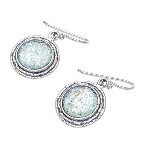 Roman Silver Sterling Glass - NOVICA .925 Sterling Silver Glass Dangle Earrings, Roman Glamour'