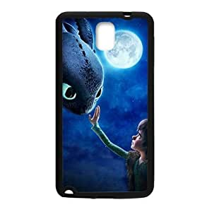 Moon night fish and boy Cell Phone Case for Samsung Galaxy Note3