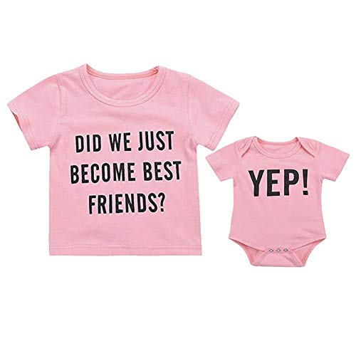 (Infant Baby Brothers/Sisters Matching Letter Print Romper Short Sleeve Jumpsuit Summer Clothes Outfits)