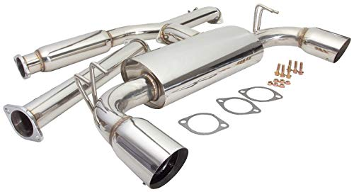AJP Distributor JDM Catback Exhaust Muffler System Stainless Steel Piping Pipe For 2008 2009 2010 2011 2012 2013 2014 08 09 10 11 12 13 14 Mitsubishi Lancer Evo 10 Evolution X