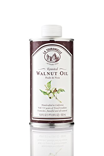 La Tourangelle Roasted Walnut Oil 16.9 Fl. Oz. Cans (Pack of 3), All-Natural, Artisanal, Great for Salads, Grilled Fish and Meat, or Pasta by La Tourangelle
