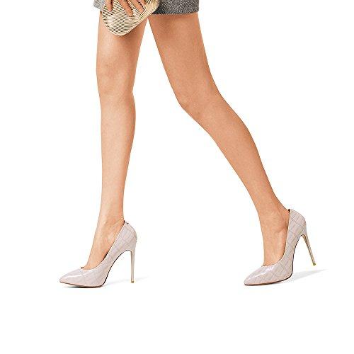 01 Femmes Printemps Chaussures PU Confortable Noir EU38 Dîner Blanc taille 01 Travail 5 CN38 Party Talons hauts Talons Couleur Mariage Eté UK5 Pointu Stiletto NAN tdqUwE5xt