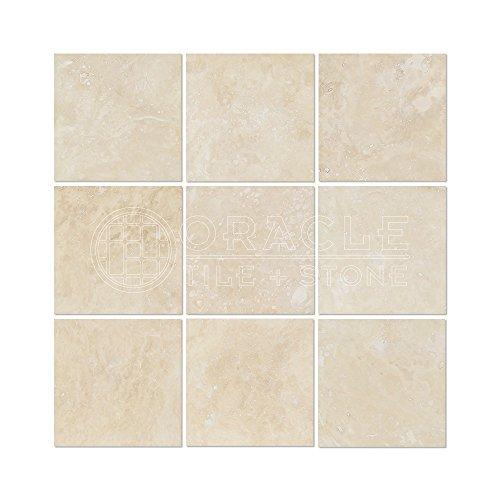 (Ivory (Light) Travertine 4 X 4 Field Tile, Filled & Honed)