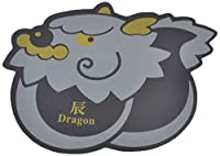 Uxcell Cartoon Dragon Design Nonslip Computer Mouse Mice Pad Mat, Black Gray