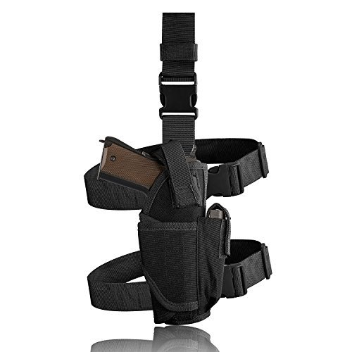 Evermacro Adjustable Tactical Army Drop Leg Holster for Pistol Gun Drop Puttee Thigh Holder (Costume Thigh Holster)