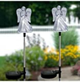 Unido Box Angel with Frosted Skirt Solar Garden