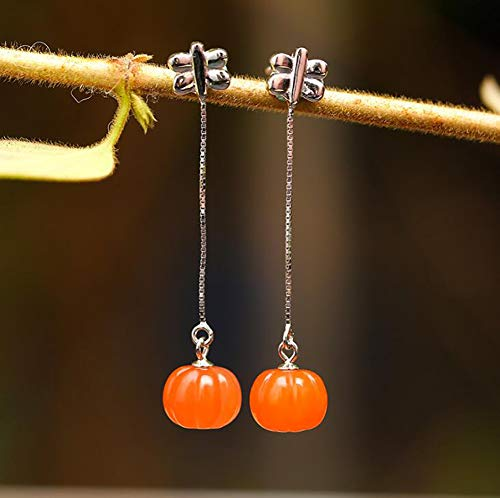 H.JPT S925 Feng Shui Earrings, Agate Jewelry, Spider