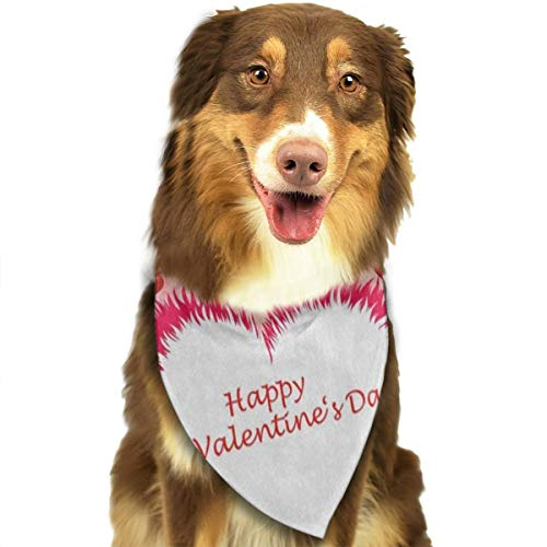 HJudge Dog Bandana Valentine's Day Love Dog Scarf Fantastic Puppy Accessories]()