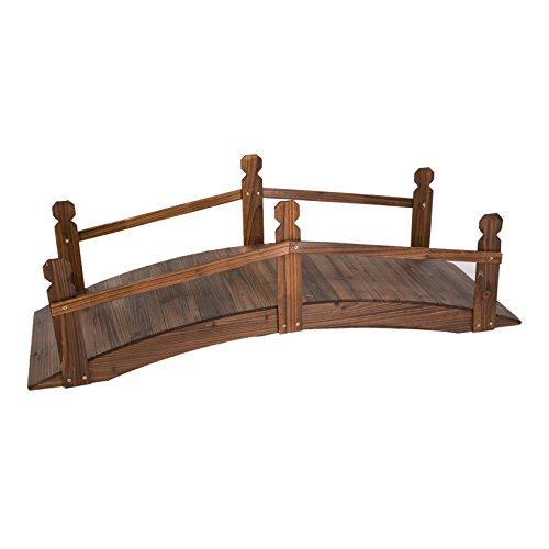 Deko-Gartenbrücke, Holz, zum Zusammen bauen, 120x40x40cm, braun