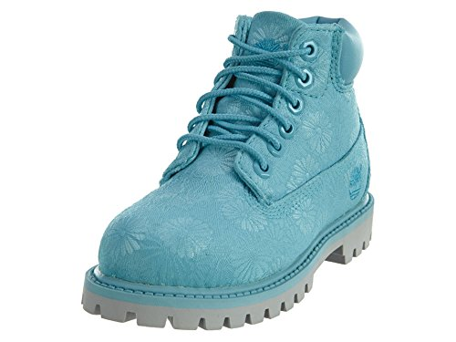 a6bfac1b814 Timberland Kids Girl s 6 in Premium Waterproof Fabric Boot (Toddler Little  Kid) Maui Blue Floral Jacquard Boot 10 Toddler M - Buy Online in Oman.