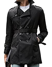 "<span class=""a-offscreen"">[Sponsored]</span>Cheryl Bull Popular Mens Autumn Trench Coat Belt Thin Double Breasted Jacket Overcoat Outwear Khaki"