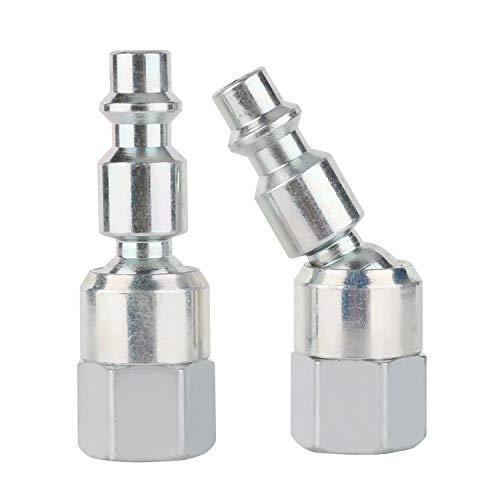 (WYNNsky Air Fittings, Swivel Steel Plug, 1/4''NPT Female Threads, I/M type, 2-PC Air Hose)