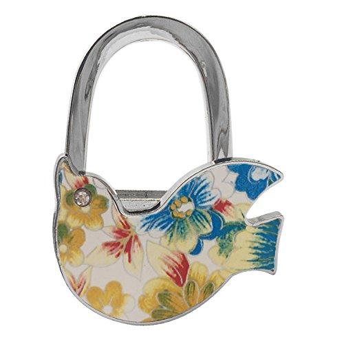 Reizteko Purse Hook, Pigeon Bird Foldable Handbag Purse Hanger Hook Holder for Tables (Pack of 8)