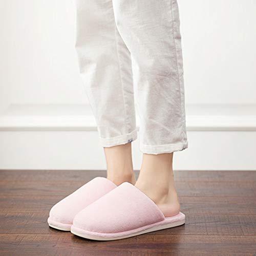 Td Pink dérapant Pantoufles couleur 37yards Hiver Et Style Light Japonais Bois Pantoufle Plancher Coton Fond Maison Intérieur Femme Green Velours Anti 36 Pvc En Automne Taille 44HZrnq