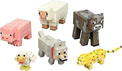 Minecraft Overworld Animal Mobs Action Figure Toy Set 6 - Pack Jazwares from Minecraft Overworld Animal