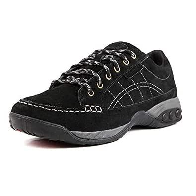 Therafit Shoe Women's Erika Suede Oxford Shoe 8.5 Black