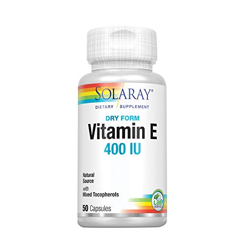 - Solaray Dry Vitamin E-400 Capsules, 50 Count