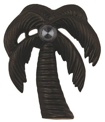 Waterwood Brass Palm Tree Doorbell in Black